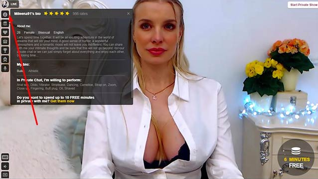 Popular live sex model. Blonde classy princess with a huge boobs